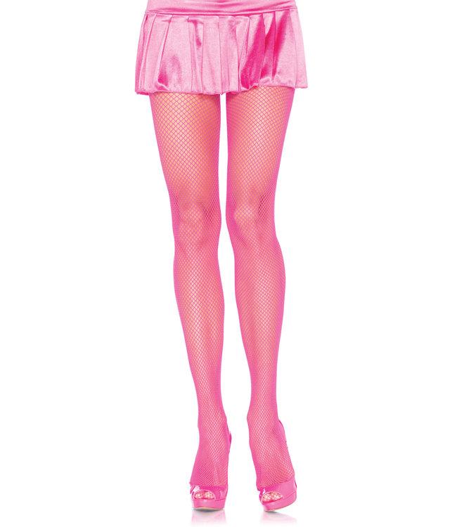 Leg Avenue Fishnet Tights - Neon pink