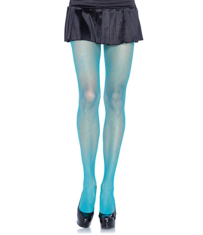 Leg Avenue Fishnet Tights - Neon blue
