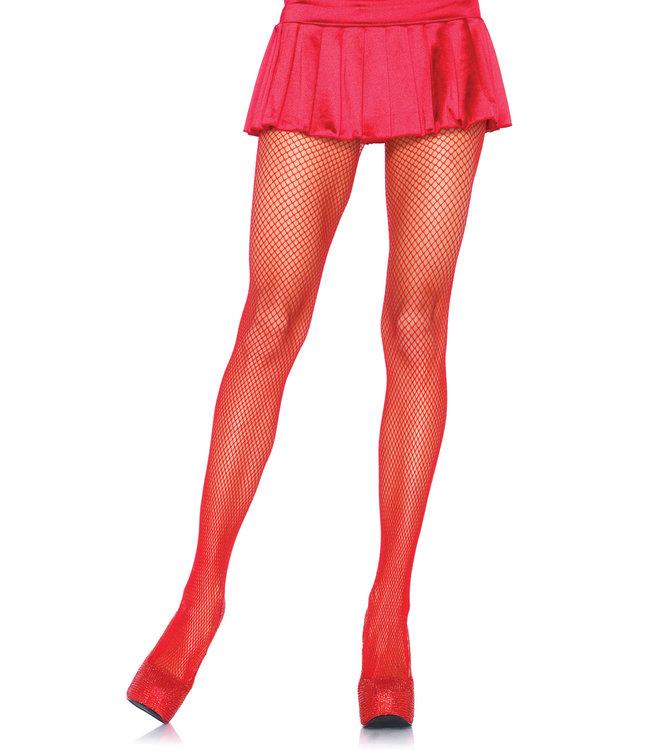 Leg Avenue Fishnet Tights - Red