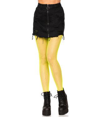 Leg Avenue Fishnet Tights - Neon Yellow