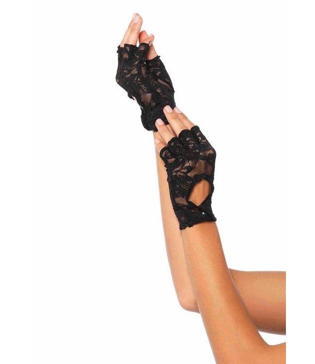 Leg Avenue Lace Keyhole Fingerless gloves