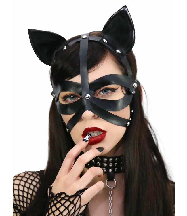 Leg Avenue Wet look harness cat mask