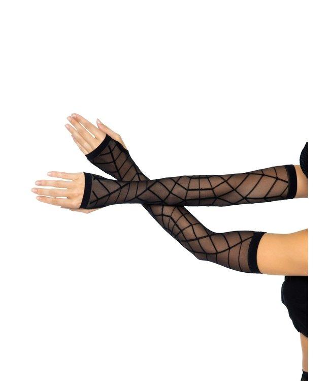 Leg Avenue Spiderweb Fingerless gloves