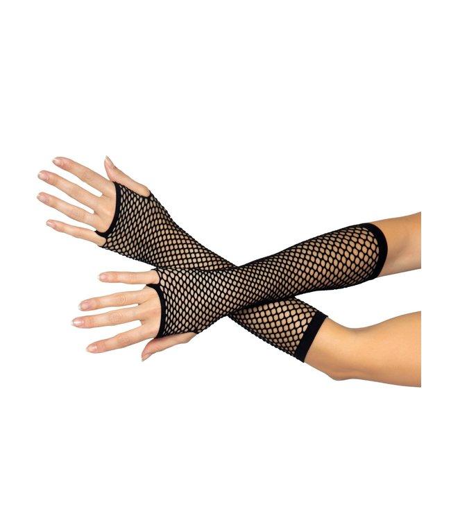 Leg Avenue Fishnet Fingerless gloves - black