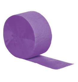 Touch of Color 81' Amethyst Crepe Paper Roll