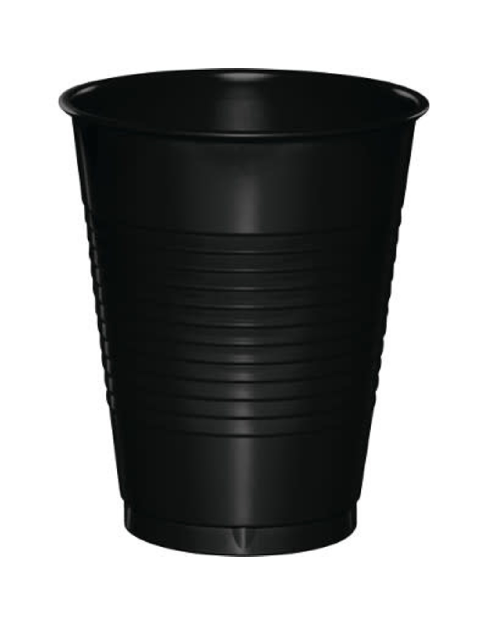 Touch of Color 16oz BLACK PLASTIC CUPS