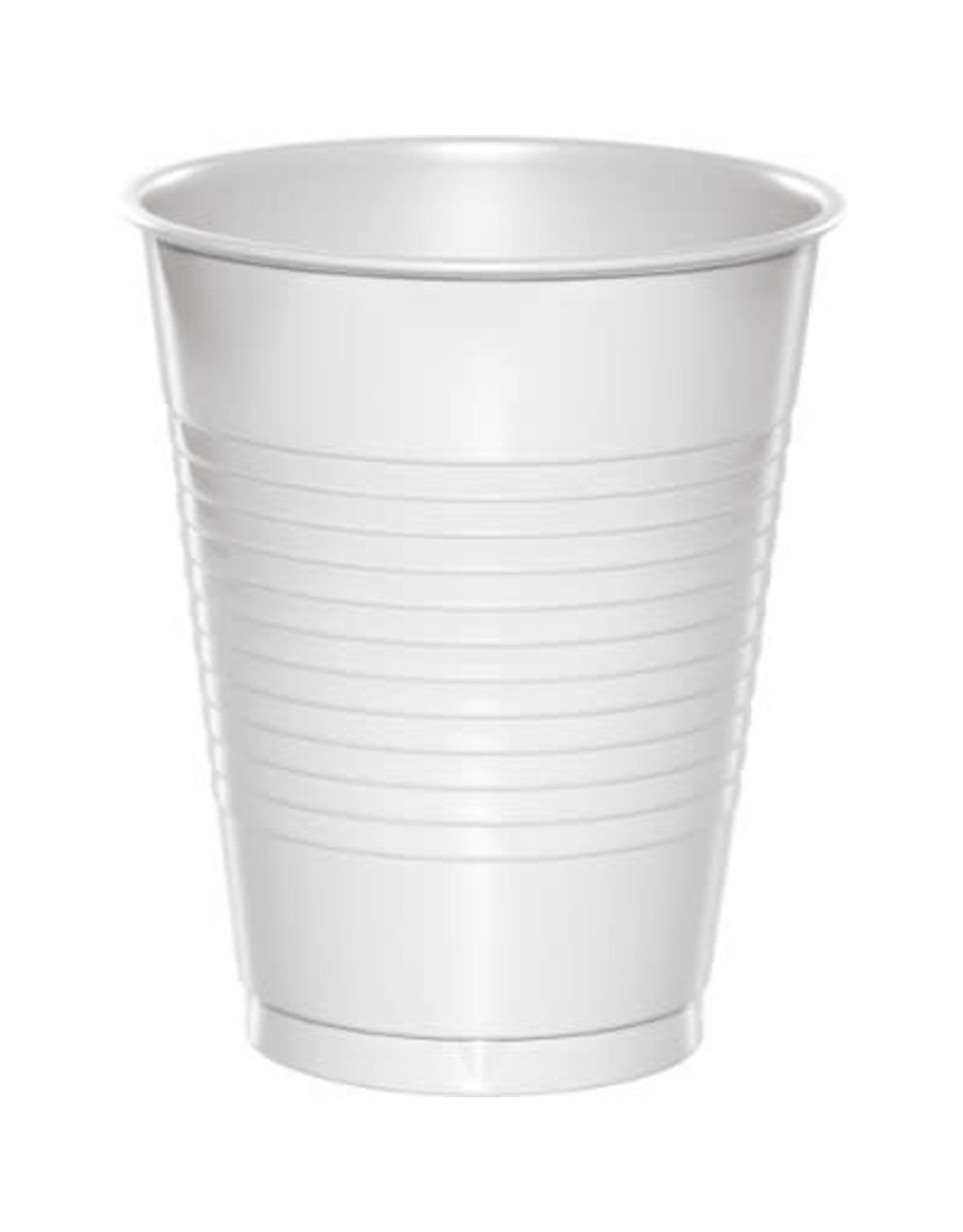 Touch of Color 16oz WHITE PLASTIC CUPS