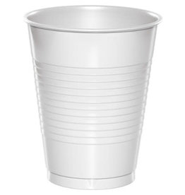Touch of Color 16oz White Plastic Cups - 20ct.