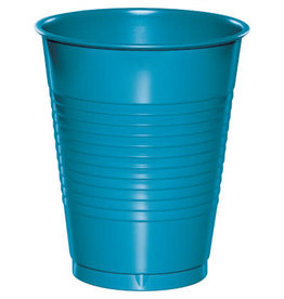Touch of Color 16oz TURQUOISE BLUE PLASTIC CUPS