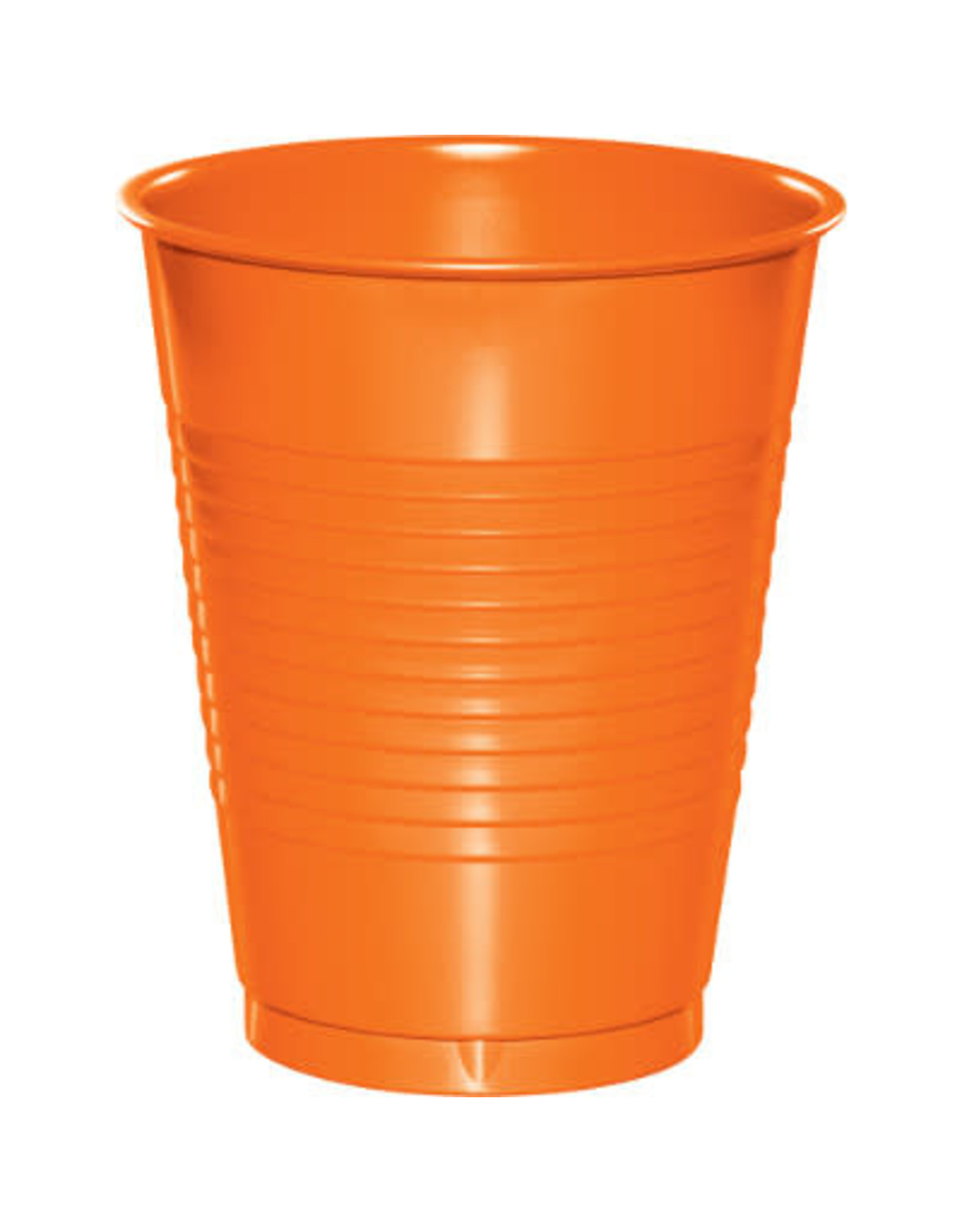 Touch of Color 16oz SUNKISSED ORANGE PLASTIC CUPS