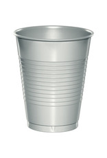 Touch of Color 16oz SHIMMERING SILVER PLASTIC CUPS