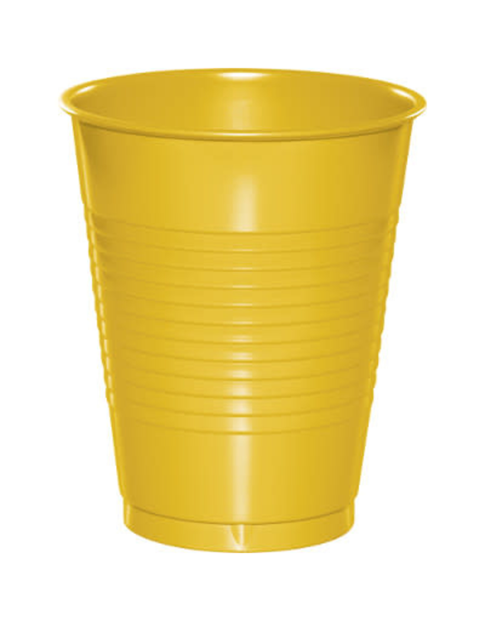Touch of Color 16oz SCHOOL BUS YELLOW PLASTIC CUPS