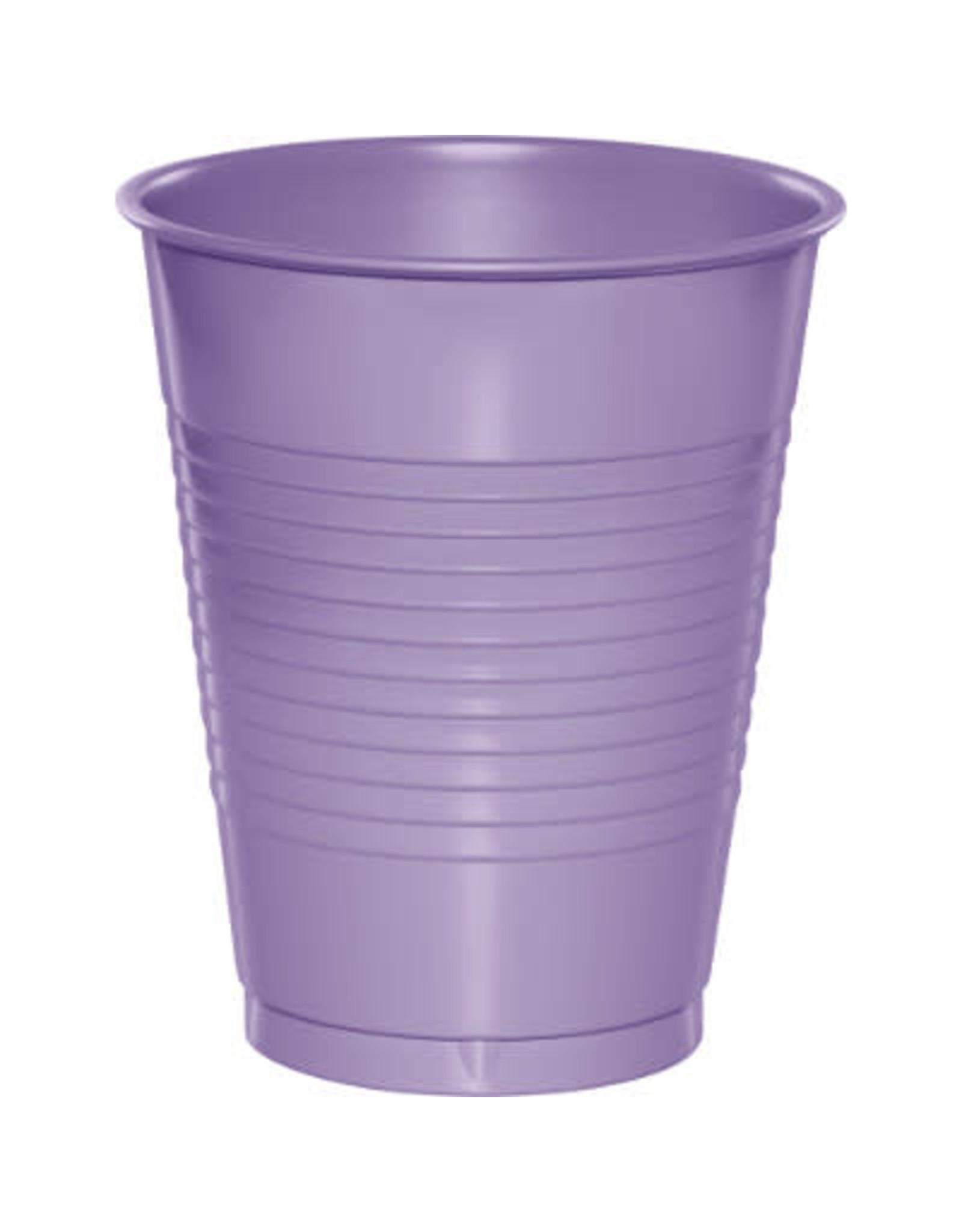Touch of Color 16oz LUSCIOUS LAVENDER PLASTIC CUPS