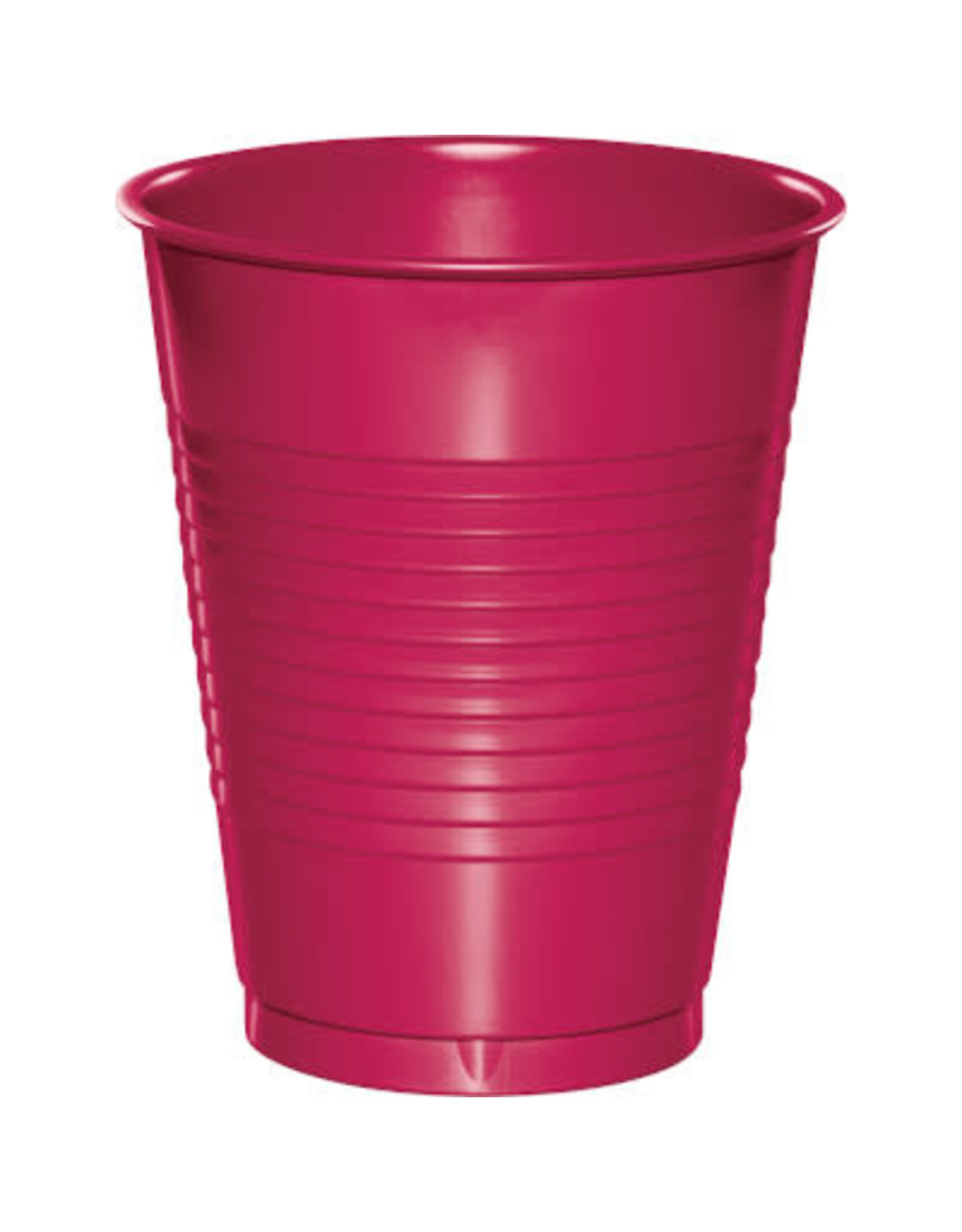 Touch of Color 16oz HOT MAGENTA PINK PLASTIC CUPS