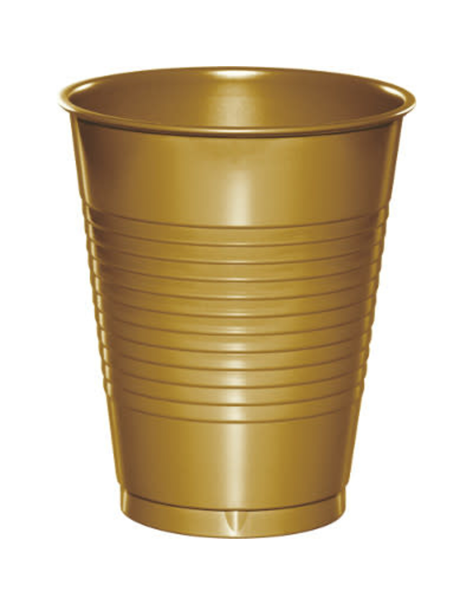 Touch of Color 16oz GLITTERING GOLD PLASTIC CUPS