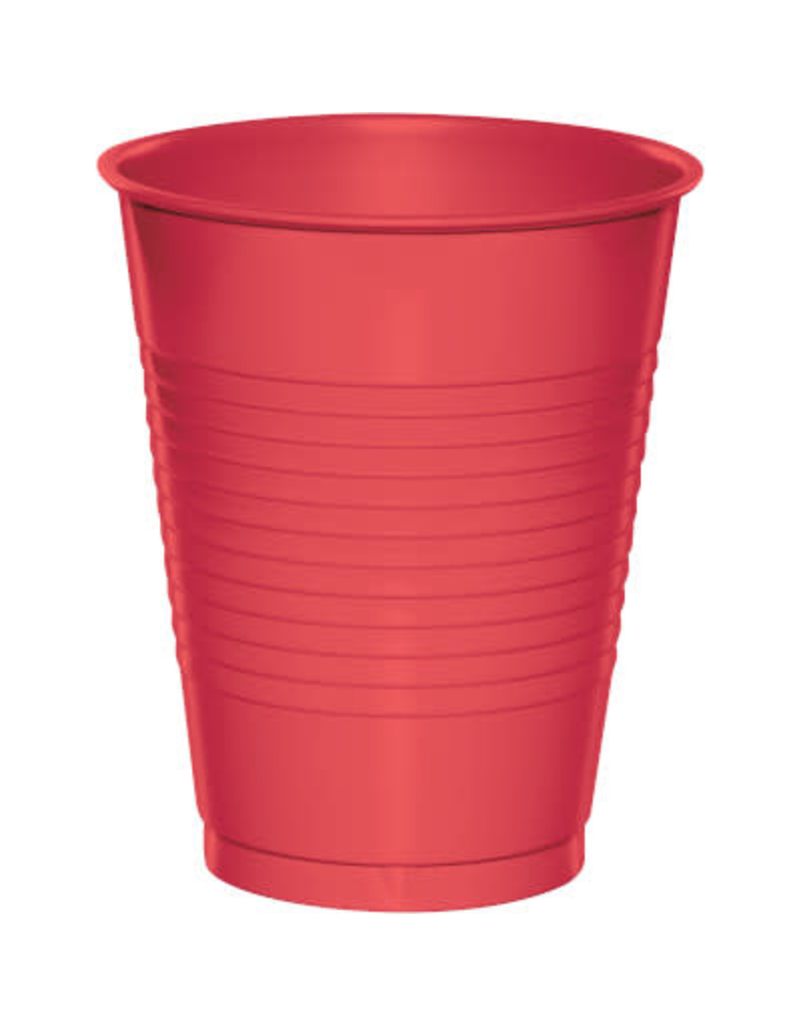 Touch of Color 16oz CORAL PLASTIC CUPS