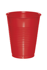 Touch of Color 16oz CLASSIC RED PLASTIC CUPS