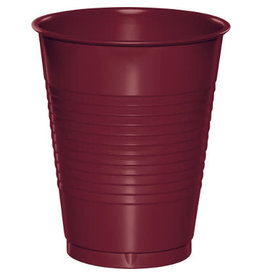 Touch of Color 16oz BURGUNDY RED PLASTIC CUPS