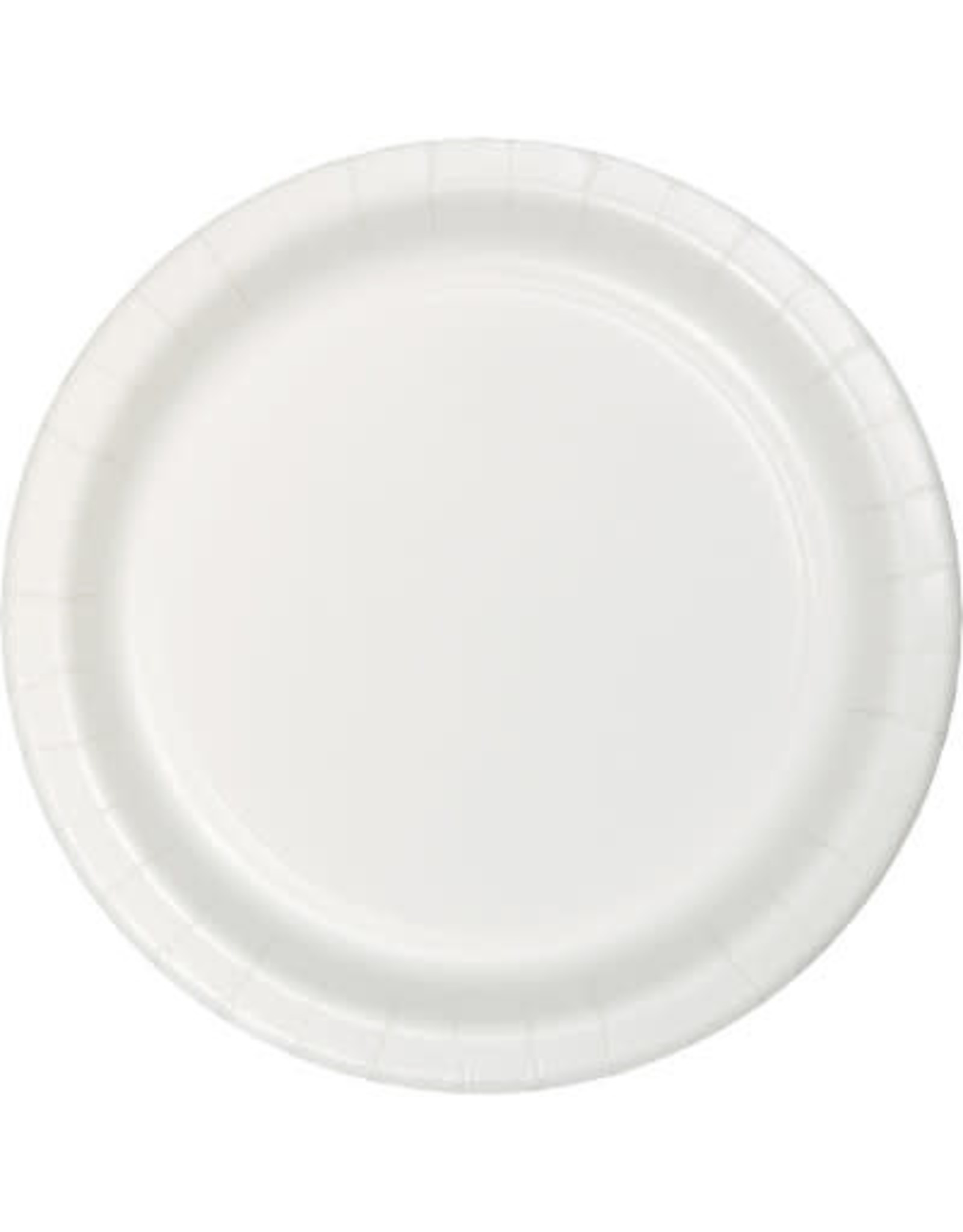 """Touch of Color 10"""" White Paper Banquet Plates - 24ct."""