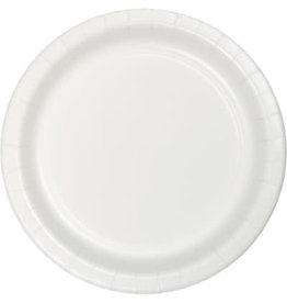 """Touch of Color 10"""" White Paper Banquet Plate"""