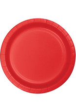 "Touch of Color 10"" Classic Red Paper Banquet Plate"