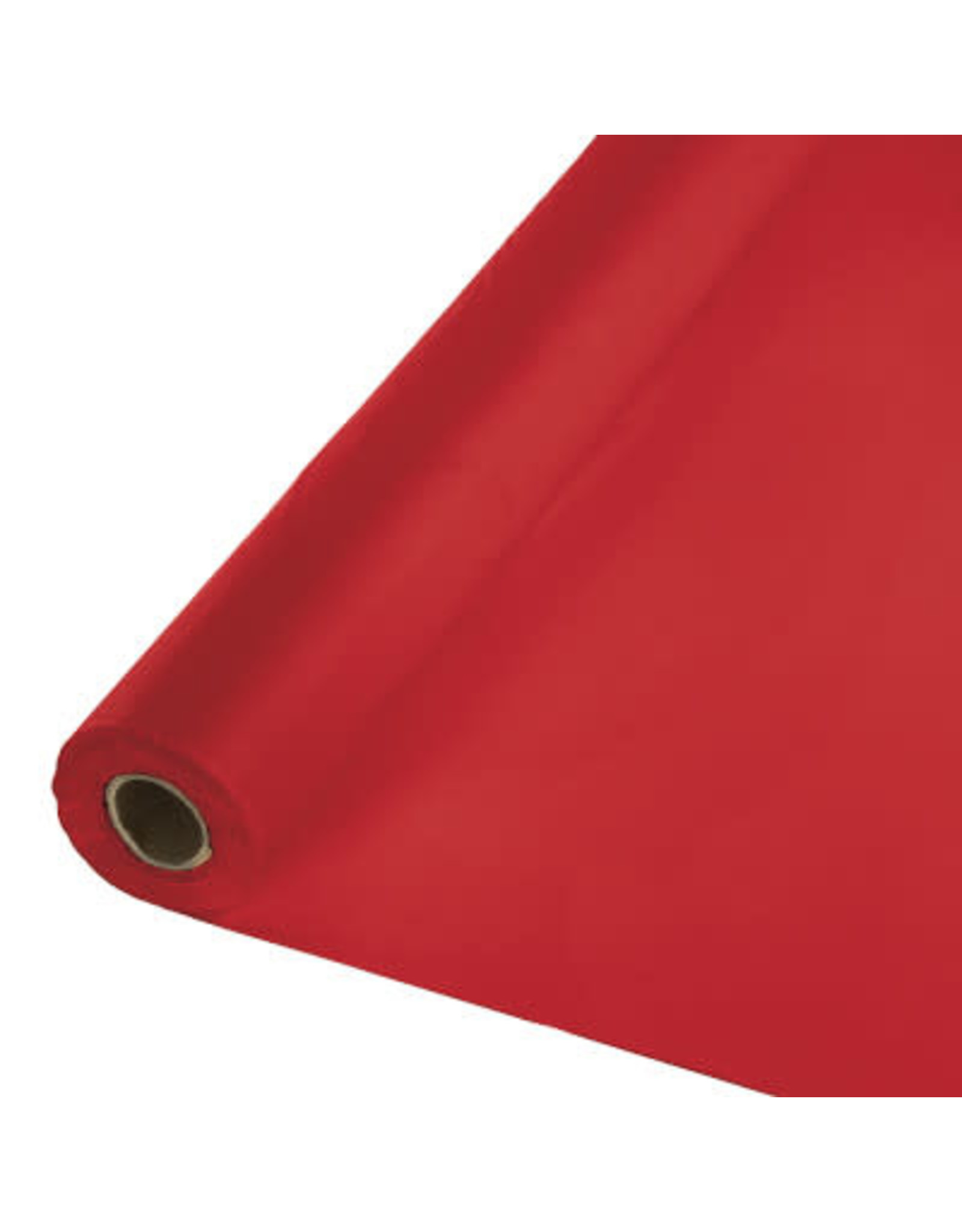 Touch of Color CLASSIC RED PLASTIC BANQUET ROLL