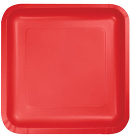 Touch of Color CLASSIC RED SQUARE DESSERT PLATES