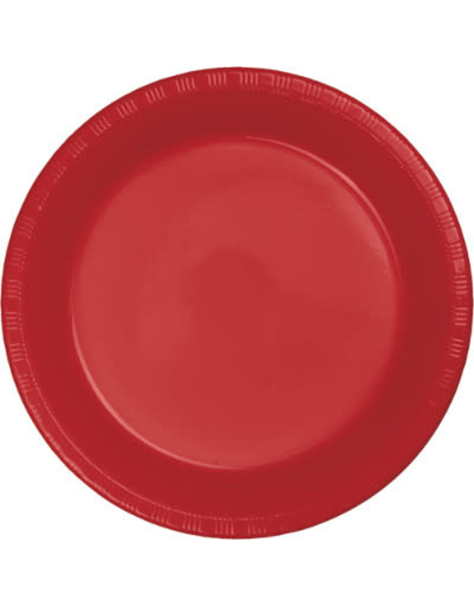 Touch of Color CLASSIC RED PLASTIC BANQUET PLATES