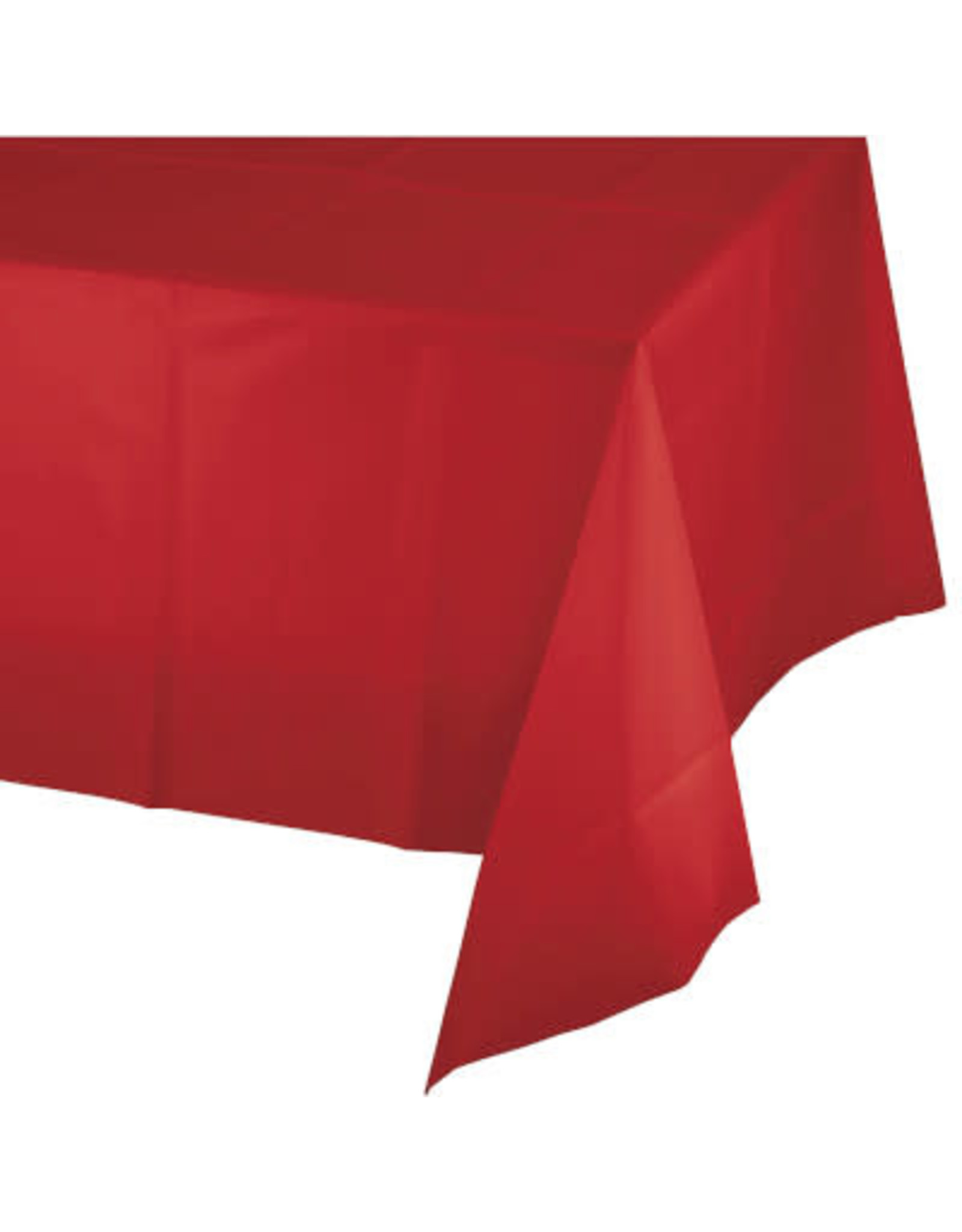 Touch of Color CLASSIC RED PLASTIC TABLECLOTH