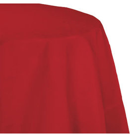 Touch of Color CLASSIC RED OCTY ROUND PAPER TABLECLOTH