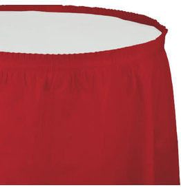 Touch of Color CLASSIC RED PLASTIC TABLESKIRT