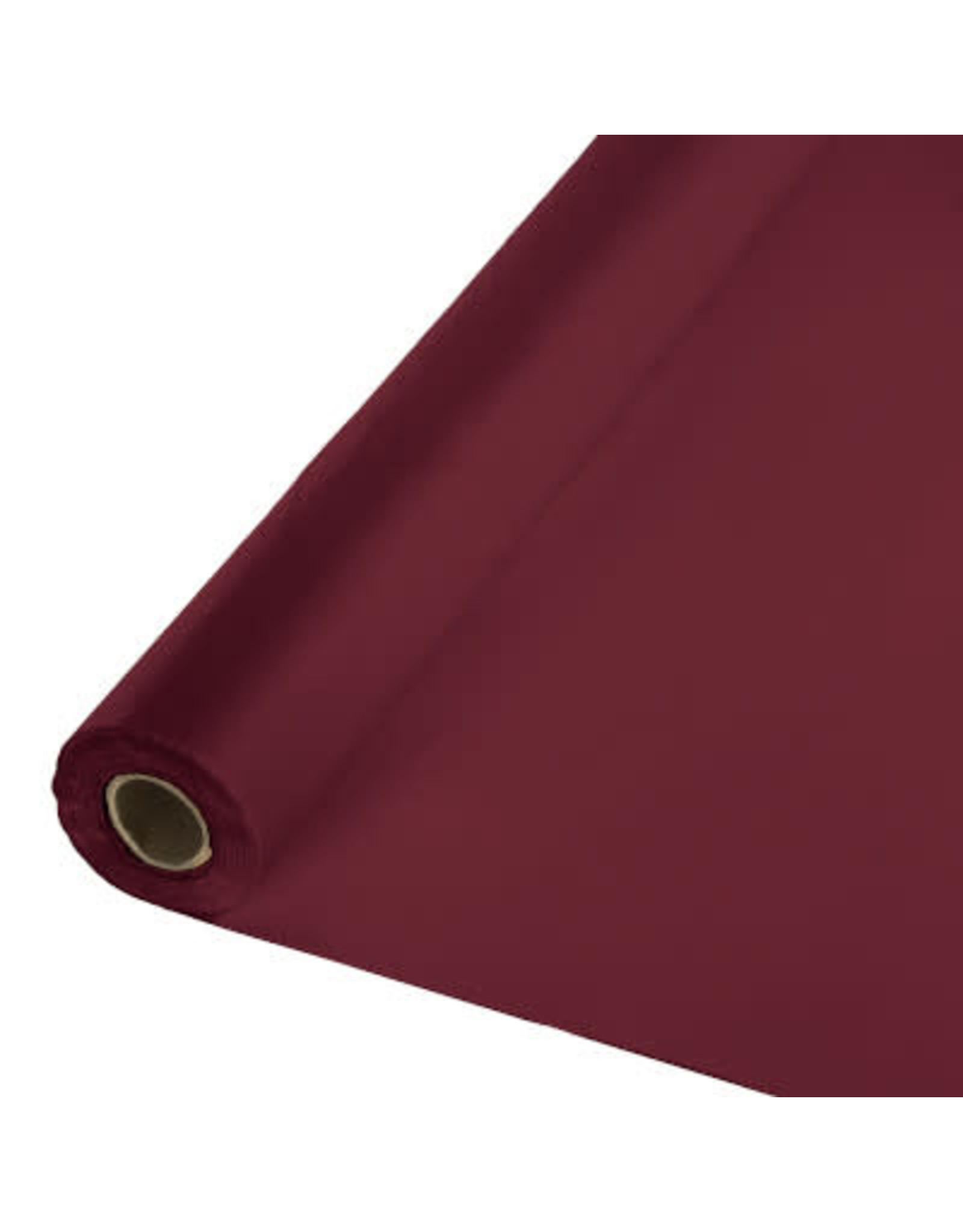 Touch of Color BURGUNDY RED PLASTIC BANQUET ROLL