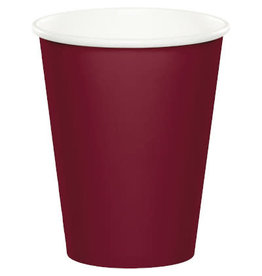 Touch of Color BURGUNDY RED CUPS 9OZ