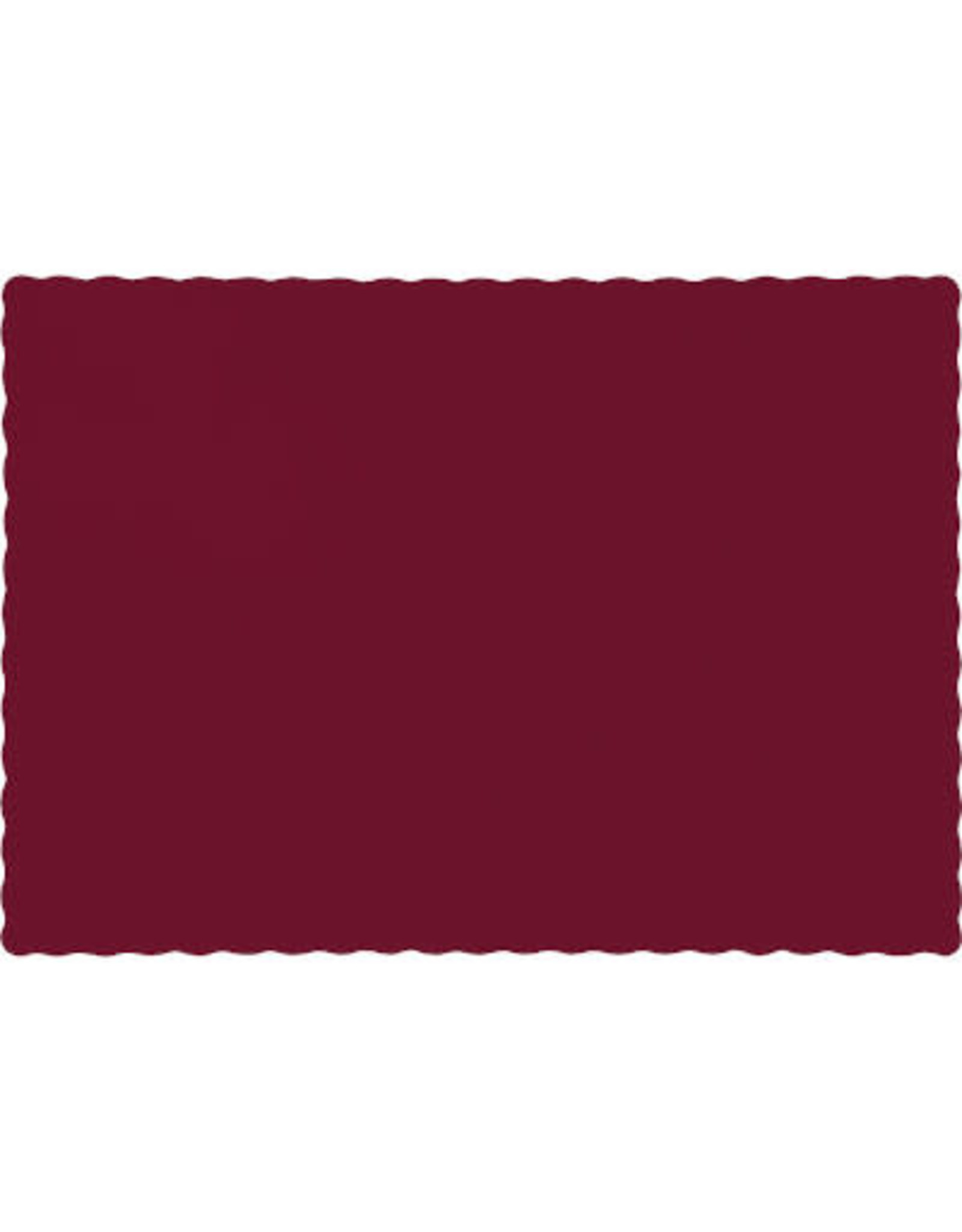 Touch of Color BURGUNDY RED PLACEMATS