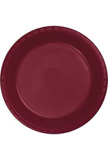 Touch of Color BURGUNDY RED PLASTIC DESSERT PLATES