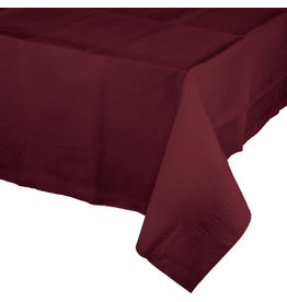 Touch of Color BURGUNDY RED PAPER TABLECLOTH