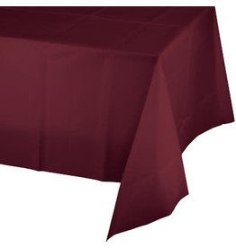 Touch of Color BURGUNDY RED PLASTIC TABLECLOTH