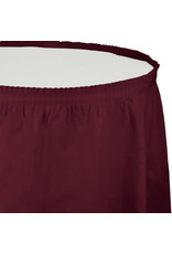 Touch of Color BURGUNDY RED PLASTIC TABLESKIRT