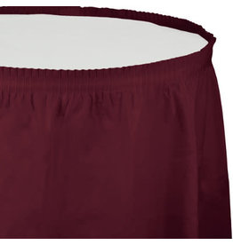 Touch of Color Burgundy Tableskirt - 14ft.