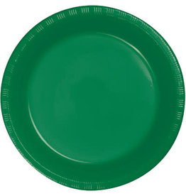 """Touch of Color Emerald Green 7"""" Plastic Plates - 20ct."""