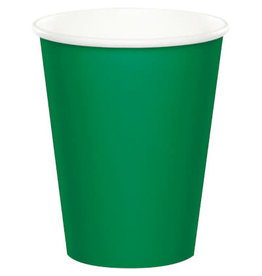 Touch of Color EMERALD GREEN CUPS 9OZ