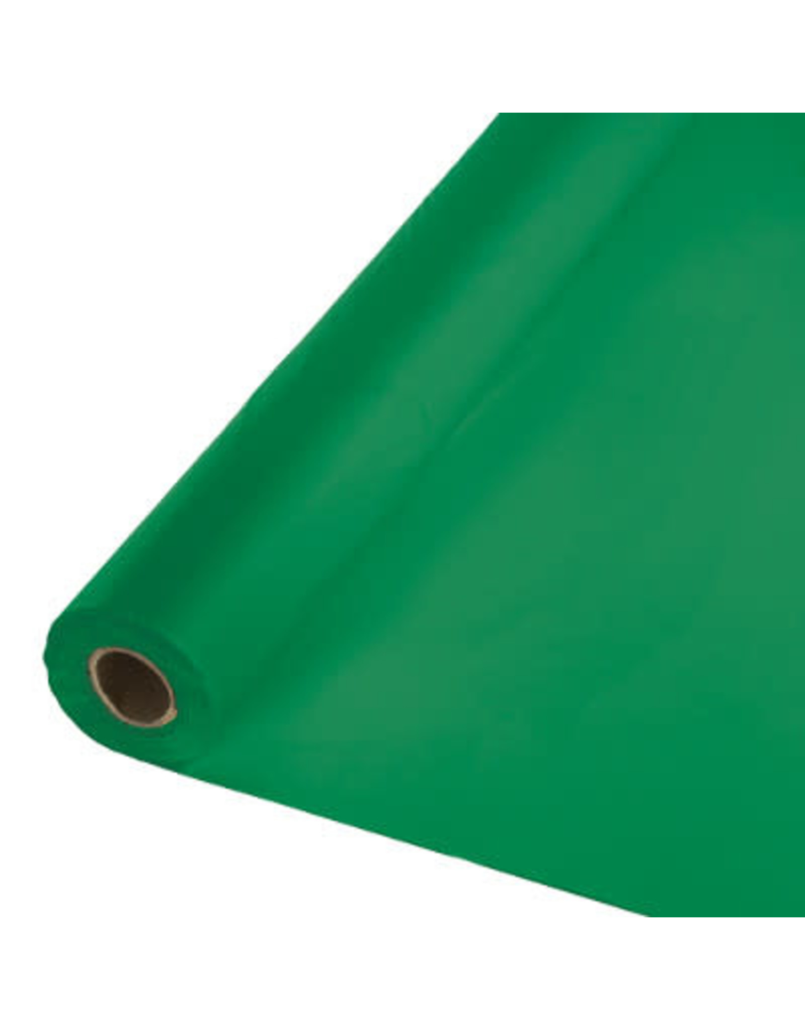 Touch of Color EMERALD GREEN PLASTIC BANQUET ROLL