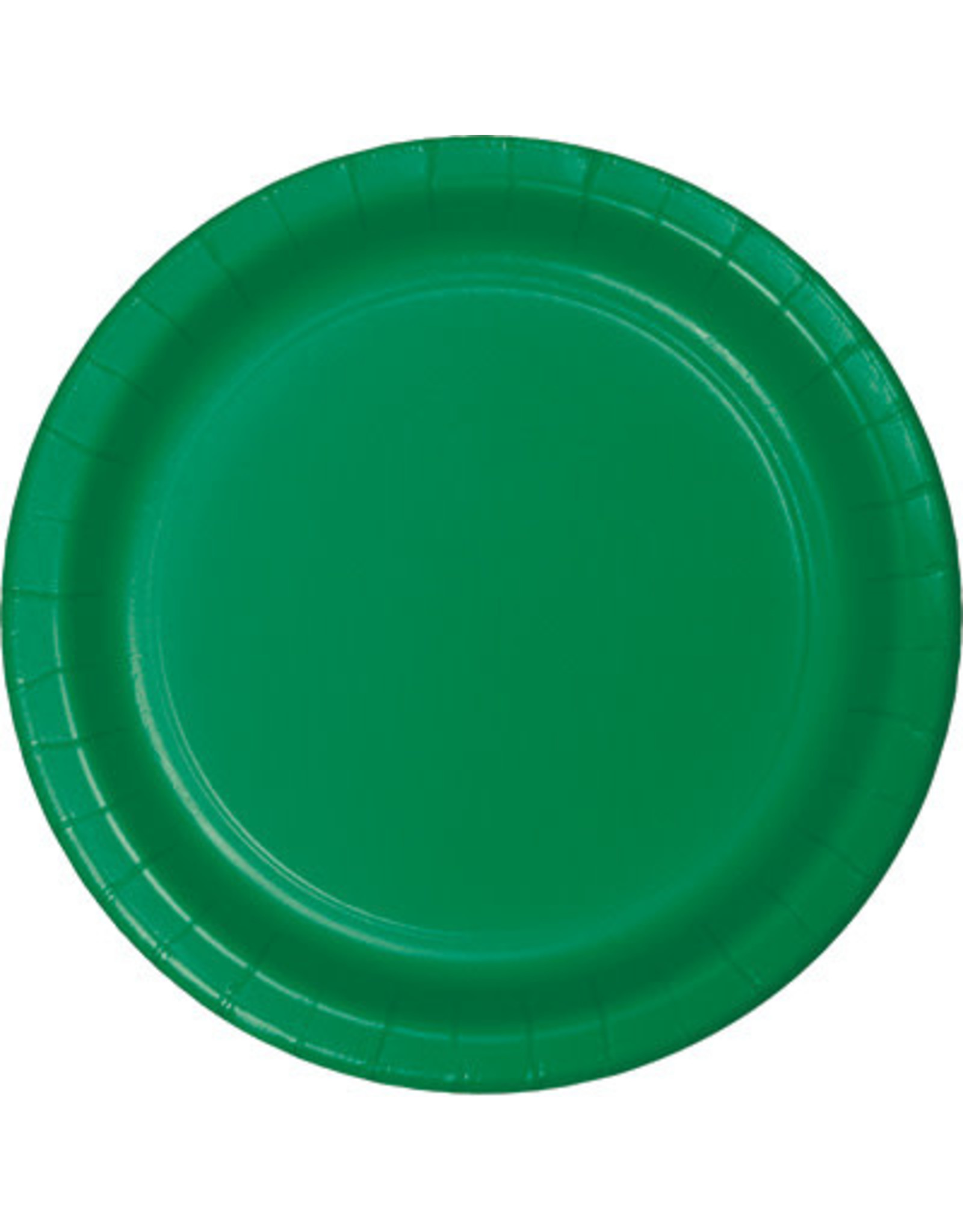 """Touch of Color 10"""" Emerald Green Paper Banquet Plates - 24ct."""