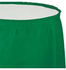 Touch of Color EMERALD GREEN PLASTIC TABLESKIRT