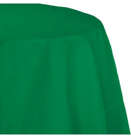 Touch of Color EMERALD GREEN OCTY ROUND PAPER TABLECLOTH