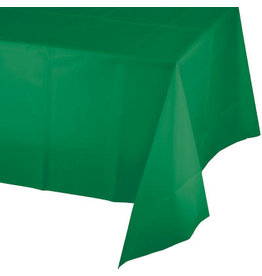 Touch of Color EMERALD GREEN PLASTIC TABLECLOTH