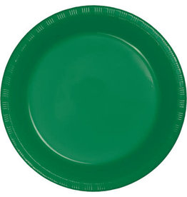 Touch of Color EMERALD GREEN PLASTIC BANQUET PLATES