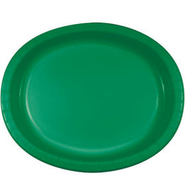 Touch of Color Emerald Green Oval Paper Plates - 8ct.