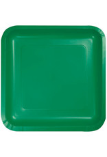 Touch of Color EMERALD GREEN SQUARE DESSERT PLATES