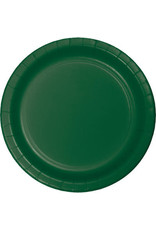 """Touch of Color 10"""" Hunter Green Paper Banquet Plates - 24ct."""